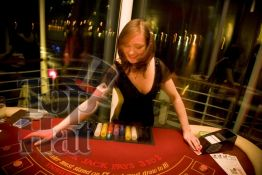 4. Blackjack table, casino hire Edinburgh